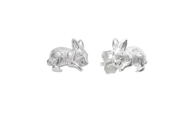 Revere Sterling Silver Bunny Stud Earrings