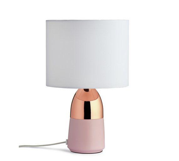 Buy home duno touch table lamp pink copper table lamps argos home duno touch table lamp pink copper aloadofball Choice Image