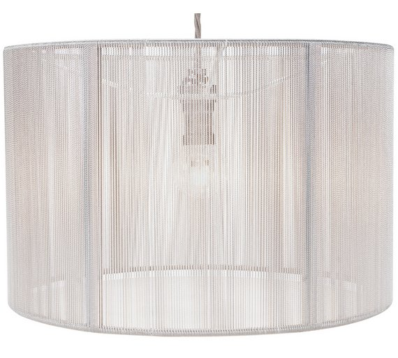 Buy heart of house sutton string lampshade grey lamp shades argos click to zoom mozeypictures Choice Image