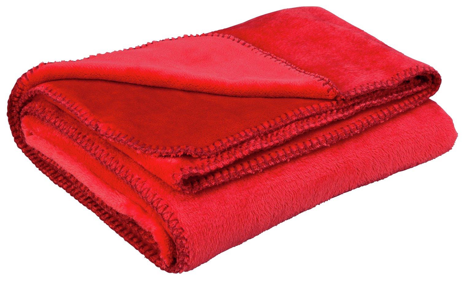 Argos Home Supersoft Throw - Poppy Red