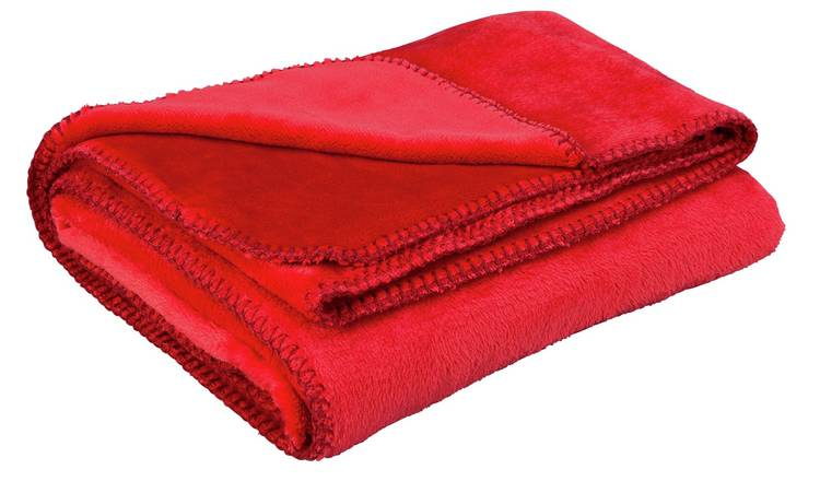 Buy Argos Home Supersoft Throw - Poppy Red | Blankets and throws | Argos