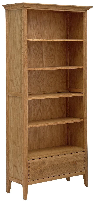 Argos Home Pembridge 5 Shelf Solid Wood Bookcase -Oak Veneer