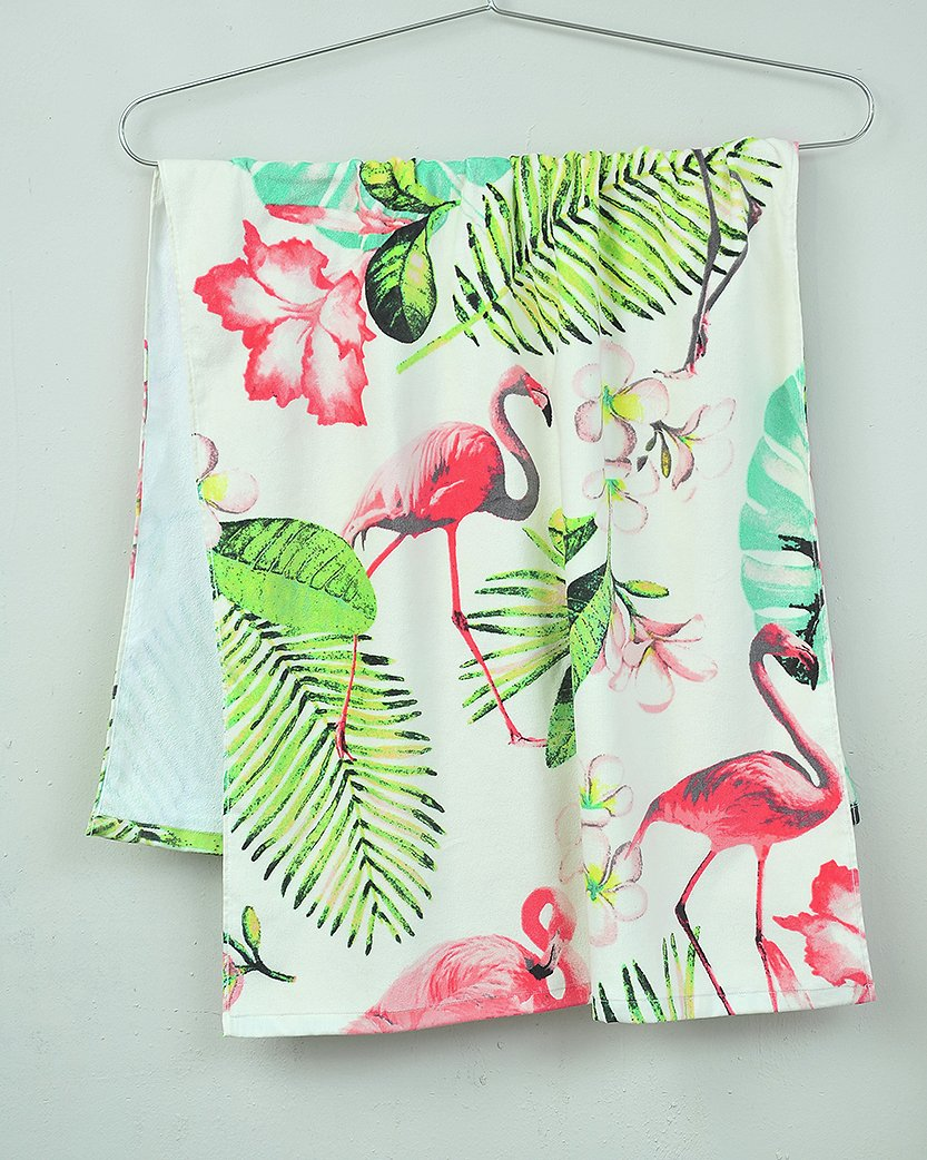 Sainsbury's Home Flamingo Beach Towel - Multicoloured