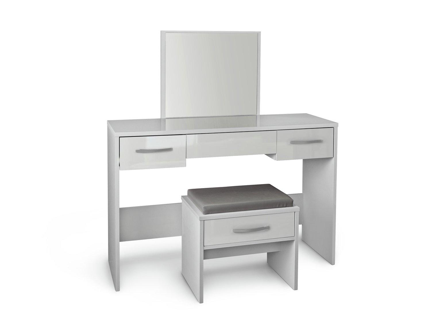 Argos Home New Hallingford Dressing Table   Grey Gloss764/5554
