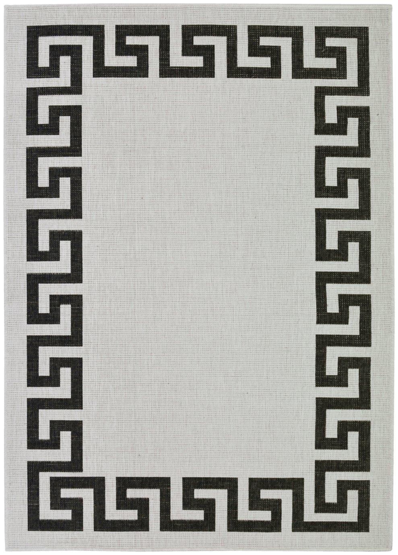 Antwerp Greek Key Rug - 120x170cm - Black