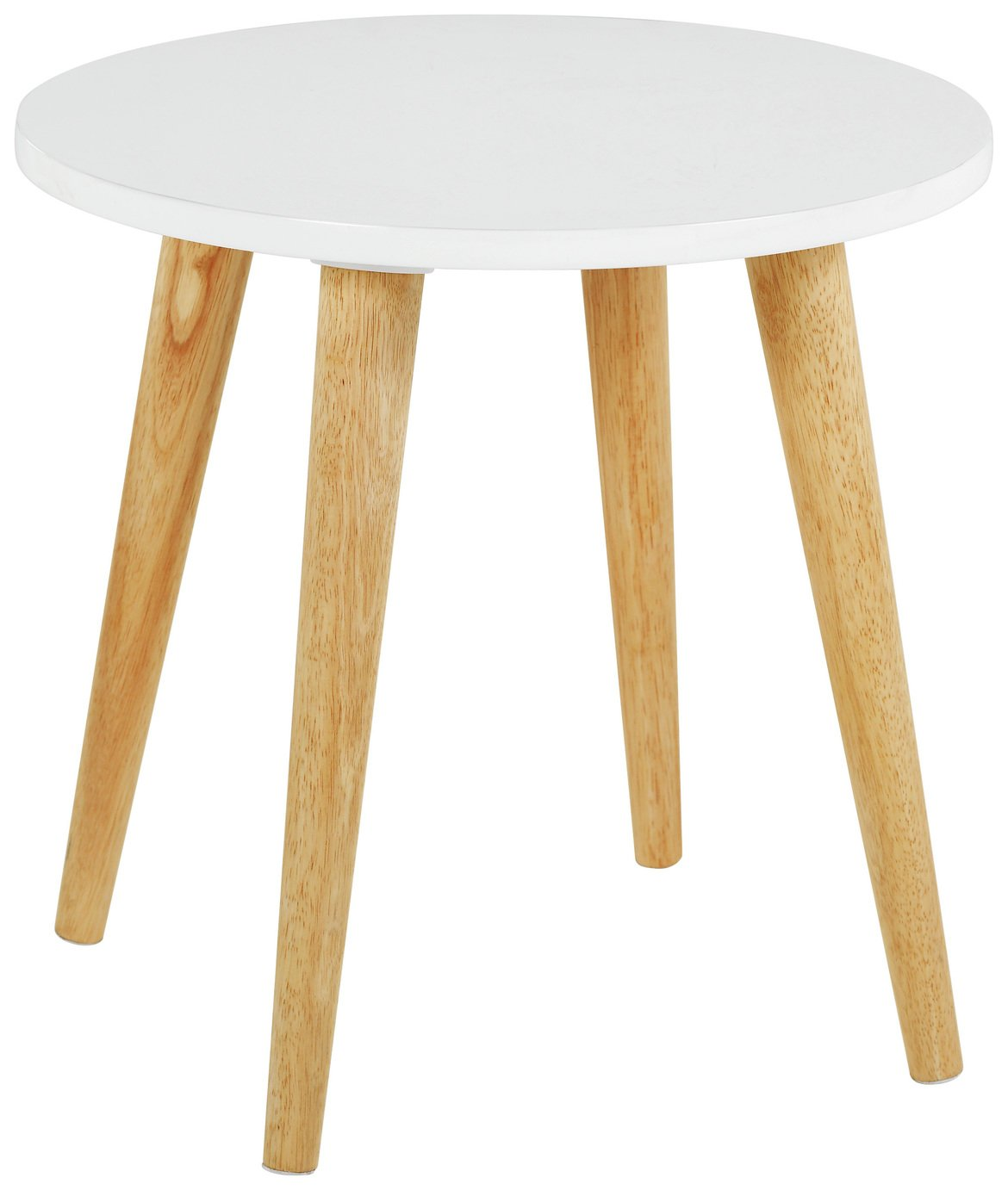 Habitat Clover Solid Wood Side Table - White
