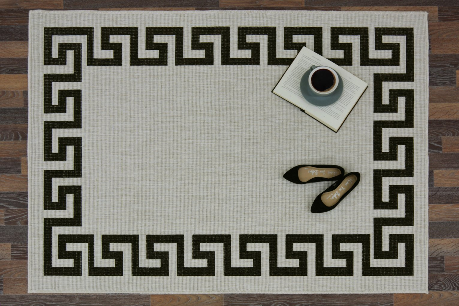 Antwerp Greek Key Runner - 60x200cm - Black