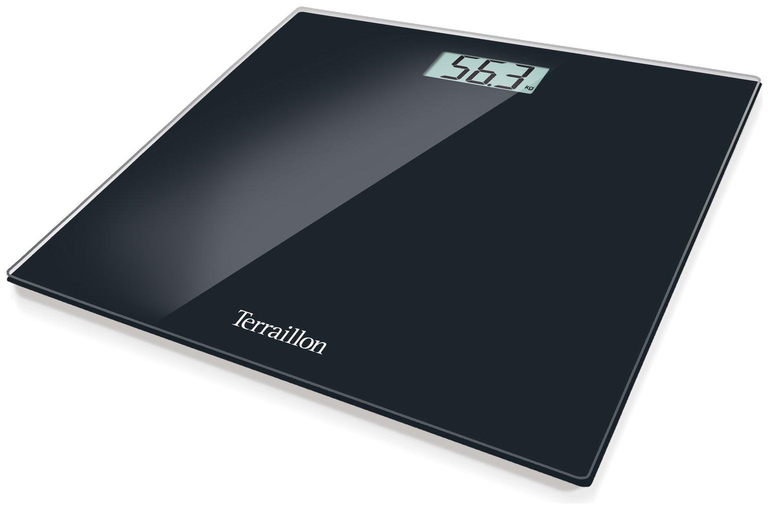 Terraillon TP1000 Electronic Bathroom Scales - Black