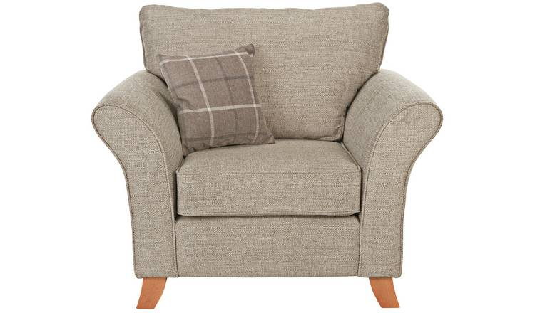 Buy Argos Home Kayla Fabric Armchair - Beige | Armchairs ...