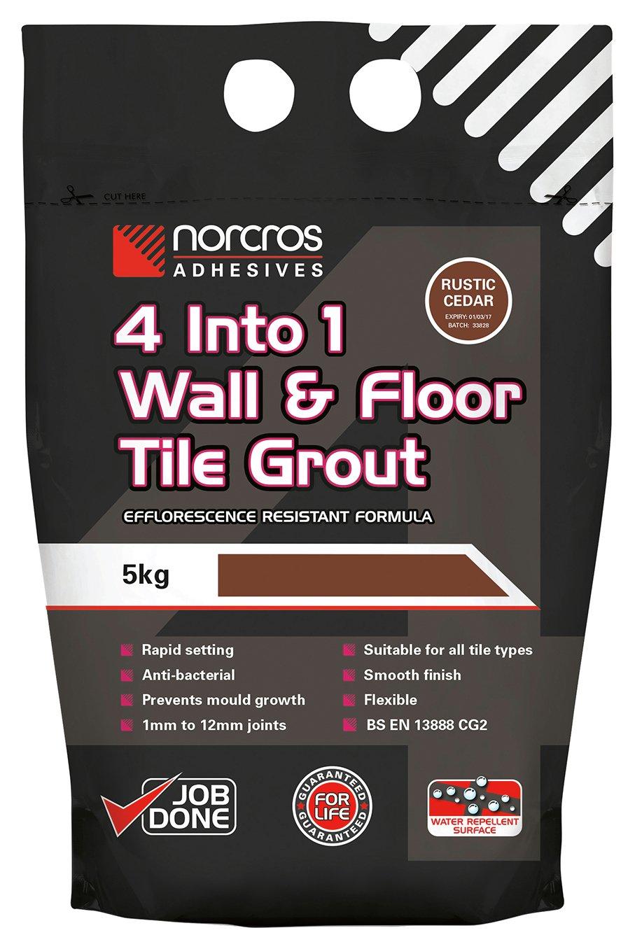 Norcros 4 in 1 Rustic Cedar Tile Grout - 5kg