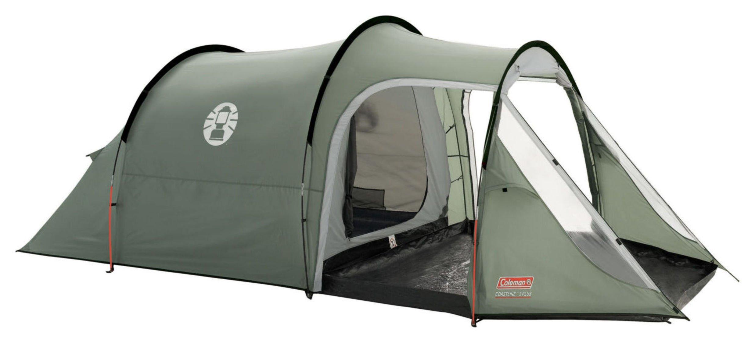 Image of Coleman Coastline 3 Man 2 Room Tunnel Tent