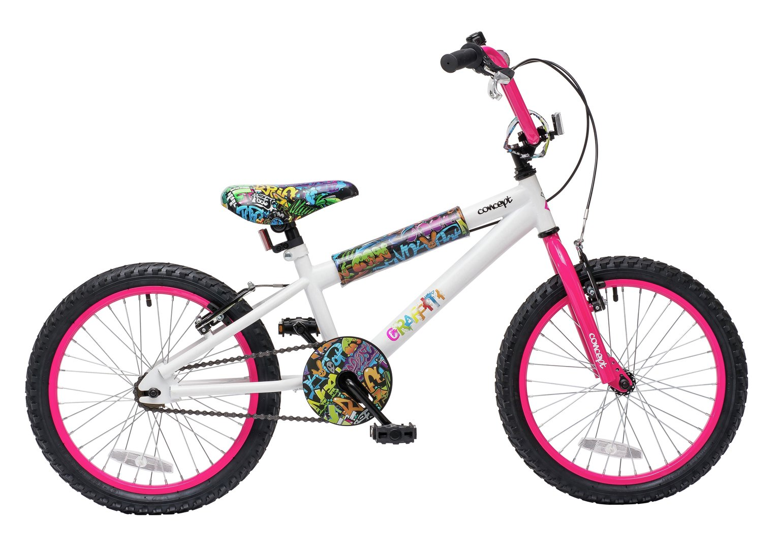 Image of Concept 9.5 Inch Kids BMX Bike - Graffiti