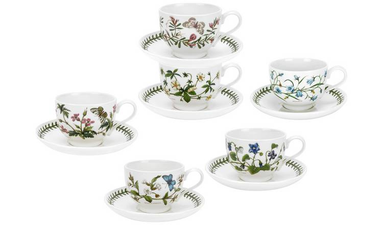 Portmeirion Botanic Garden Tea Cup and Saucer Set