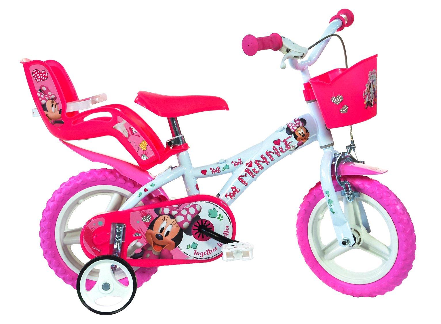 Image of Dino Bikes Minnie Mouse 12 Inch Kids Bike
