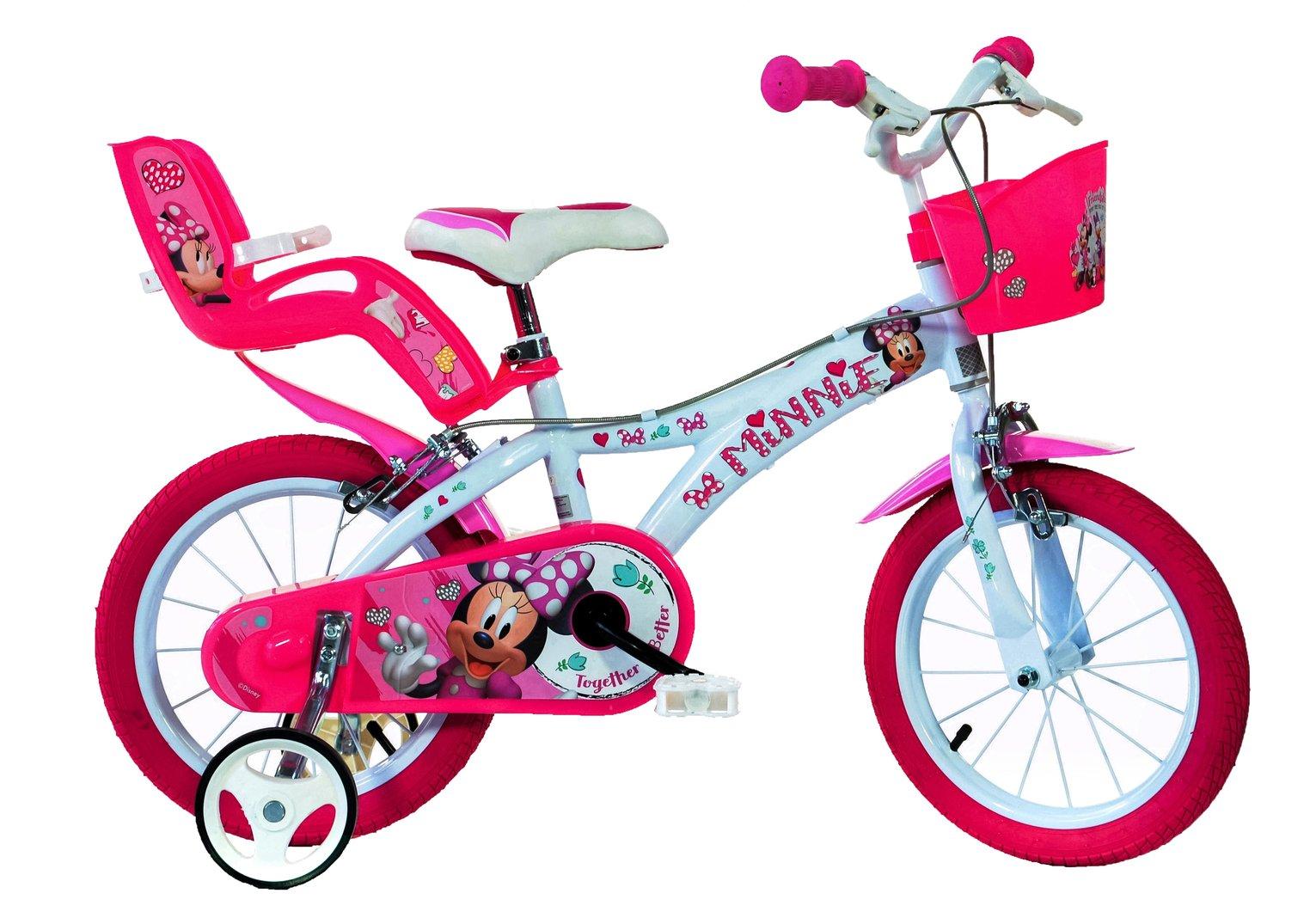 Image of Dino Bikes Minnie Mouse 14 Inch Bike Kids