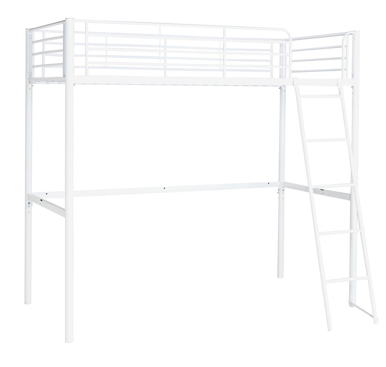 'Home Metal High Sleeper Bed Frame - White