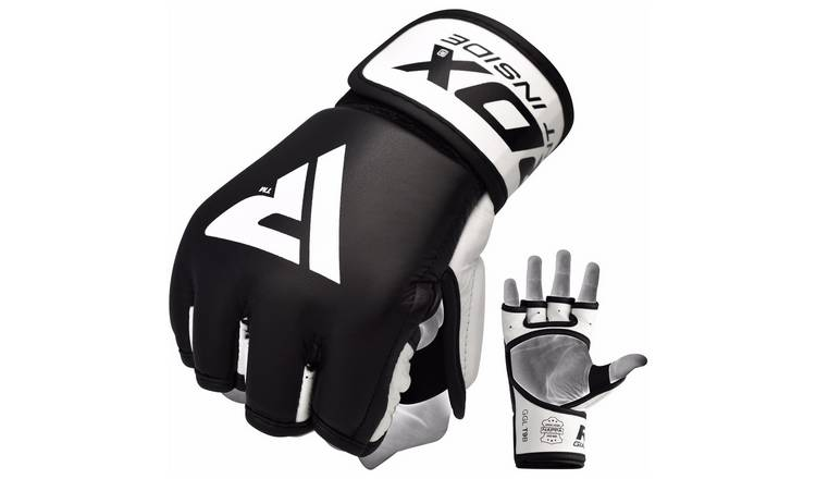 RDX Medium/Large MMA Grappling Gloves - Black