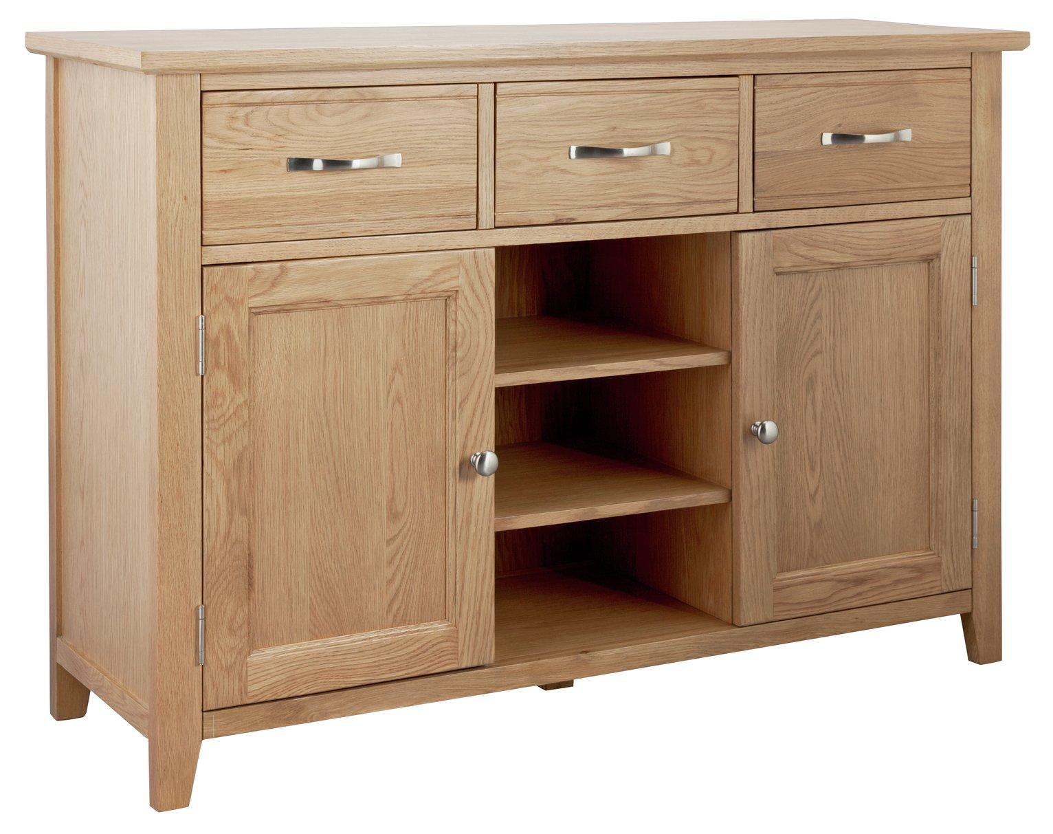 Argos Home Islington Large Oak Veneer Sideboard