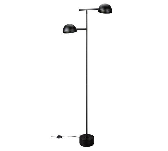 Buy home link 2 light led floor lamp black floor lamps argos home link 2 light led floor lamp black aloadofball Image collections