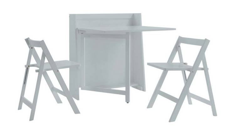 Julian Bowen Helsinki Compact Folding Table & 2 Chairs -Grey