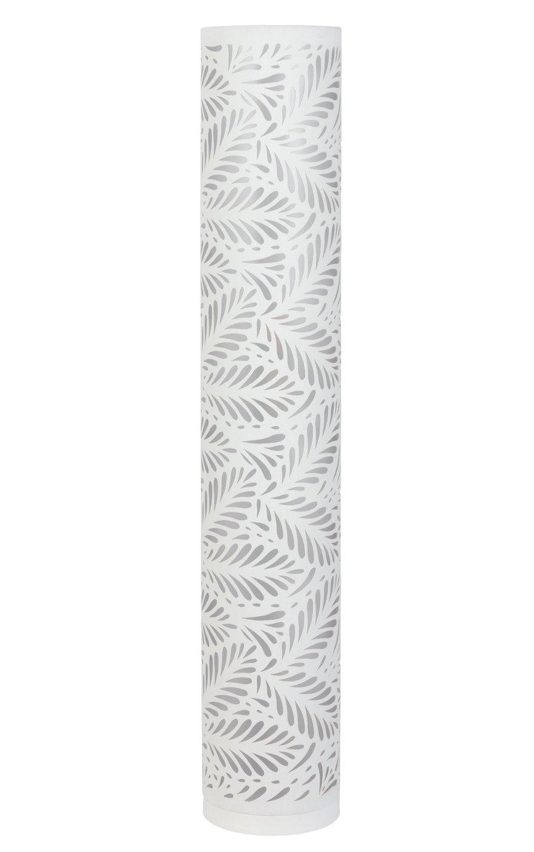 Argos Home Cut Out Leaf Column Floor Lamp - White