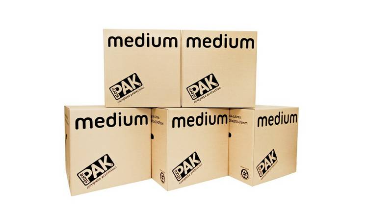 StorePAK Medium Cardboard Boxes - Set of 5
