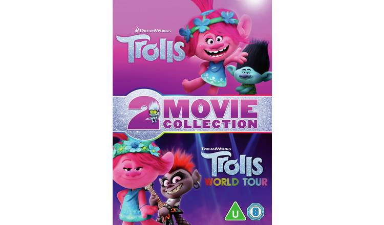 Dreamworks' Trolls & Trolls World Tour DVD Box Set