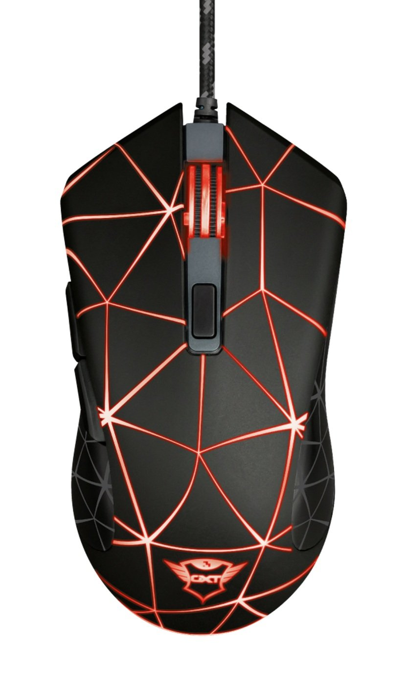 TRUST GXT 133 Locx Wired Gaming Mouse - Black