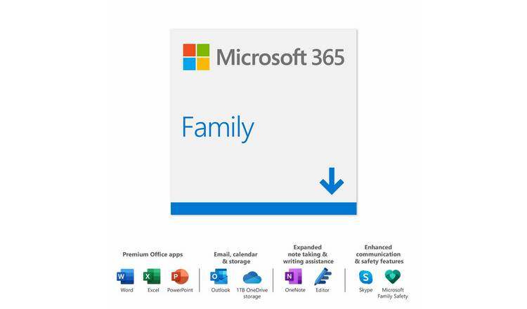 Microsoft 365 Family - 1 Year 6 Users
