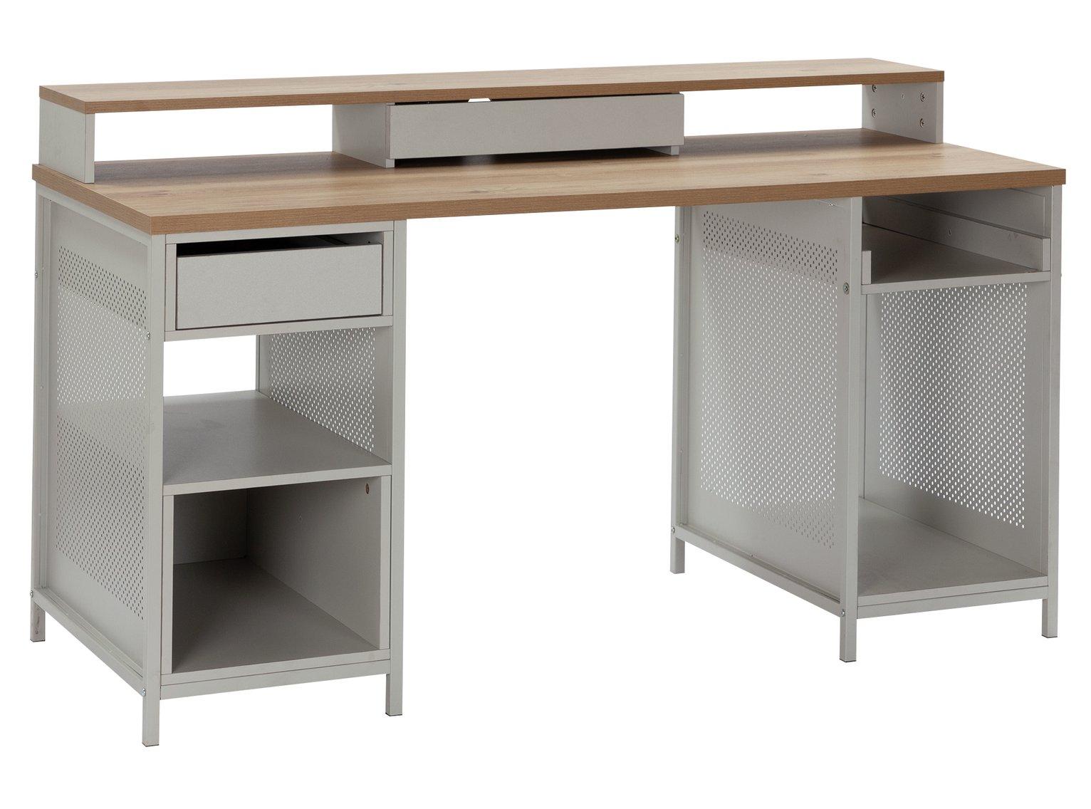 Argos Home Modular 1 Drawer Gaming Desk - Oak Effect & Grey