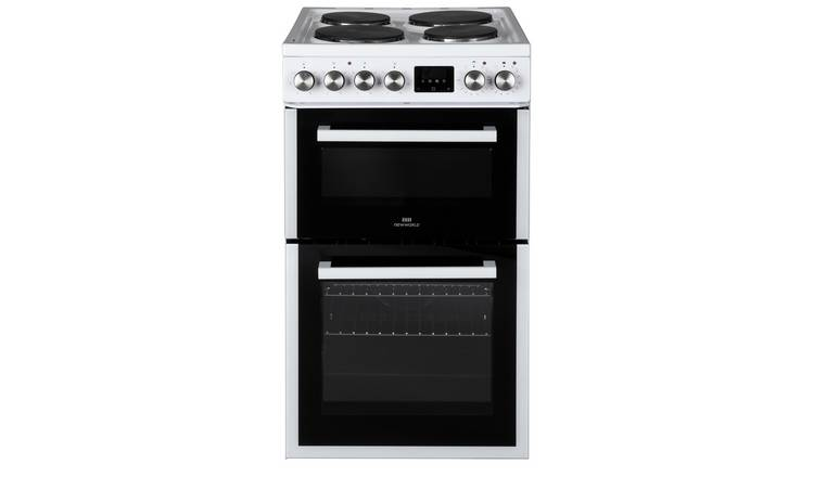 New World NWLS50DEW 50cm Double Oven Electric Cooker - White
