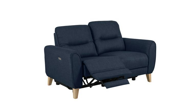 Habitat Tommy 2 Seater Fabric Recliner Sofa - Navy