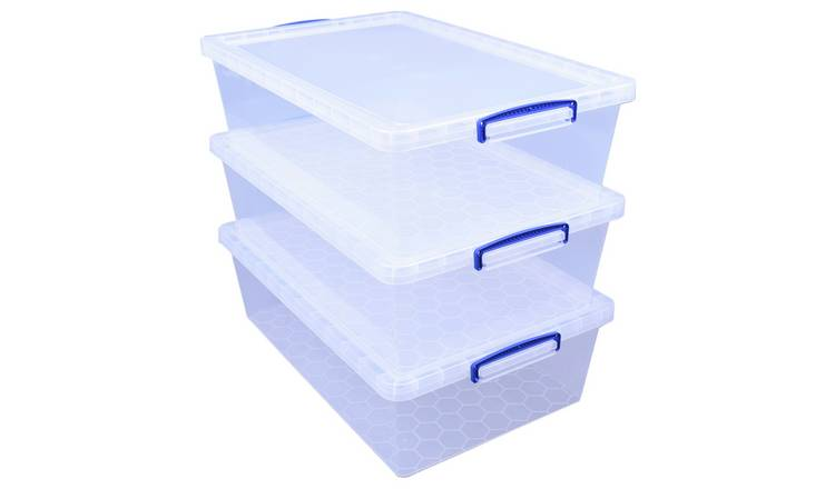 Really Useful 43 Litre Storage Boxes - Set of 3