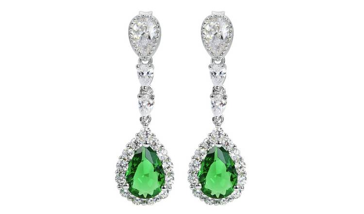Revere Sterling Silver Cubic Zirconia Pear Earrings