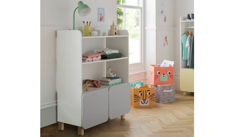 Argos Home Milo Double Storage Unit - Grey