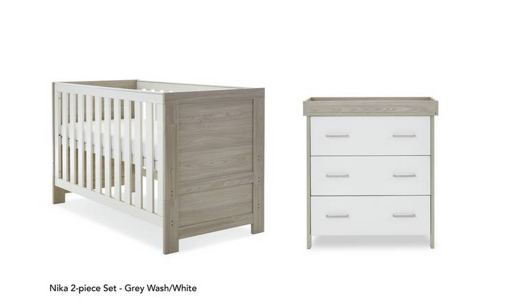Obaby Nika 2 Piece Room Set - Grey Wash and White