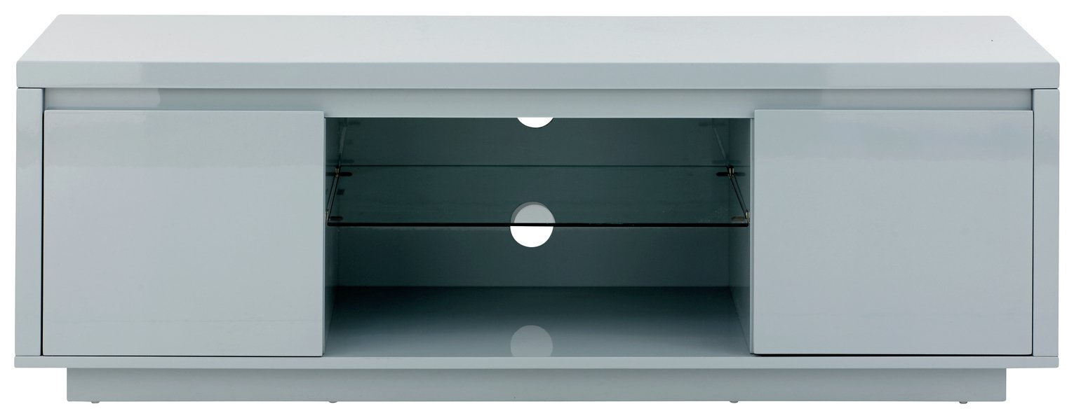 Polar 2 Door Large TV Unit - Grey Gloss