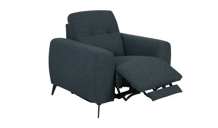 Habitat Ghost Fabric Power Recliner Chair - Charcoal