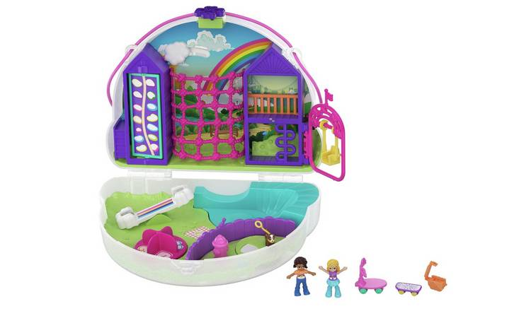 Polly Pocket Polly & Shani Rainbow Cloud Playground Playset