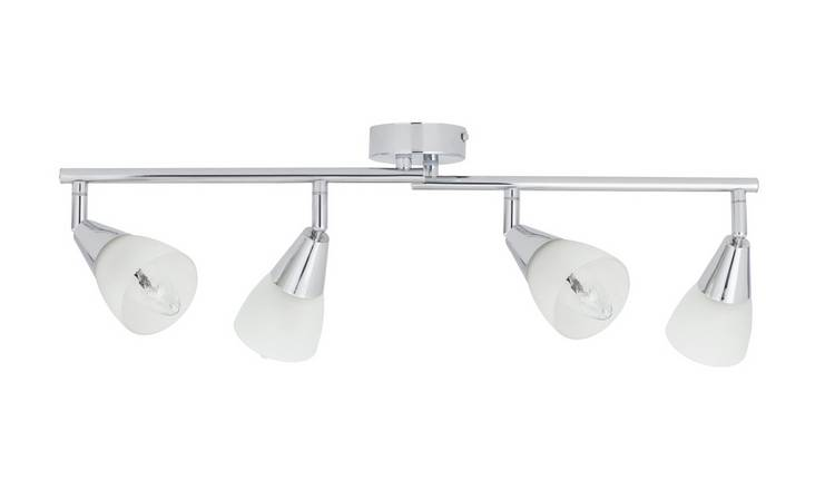 Argos Home Curico 4 Light Spotlight Bar - Chrome