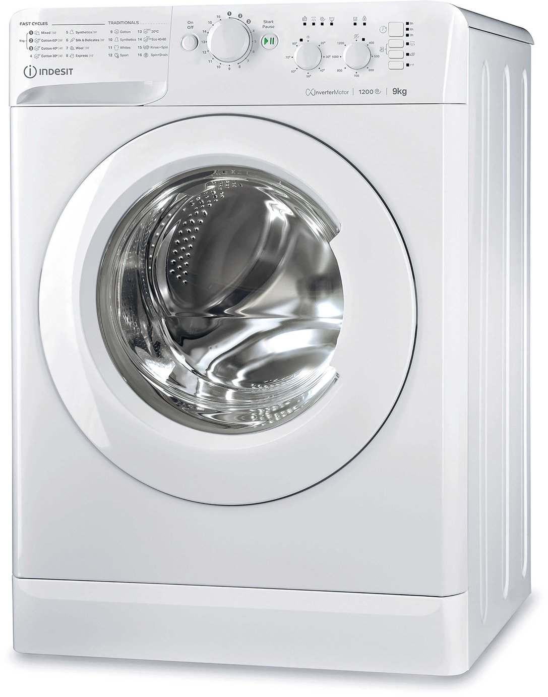 Indesit MTWC91283W ECO 9KG 1200 Spin Washing Machine - White