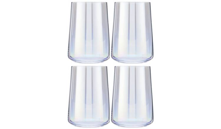 Argos Home Iridescent Lustre Set of 4 Hi Ball Glasses
