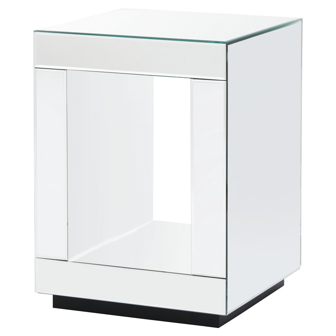 Capri Cube Lamp Table - Mirrored