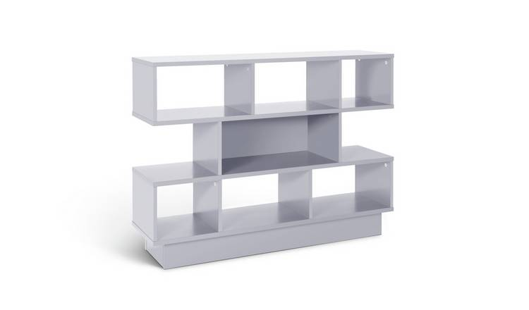 Argos Home Cubes 3 Tier Wide Bookcase - Grey