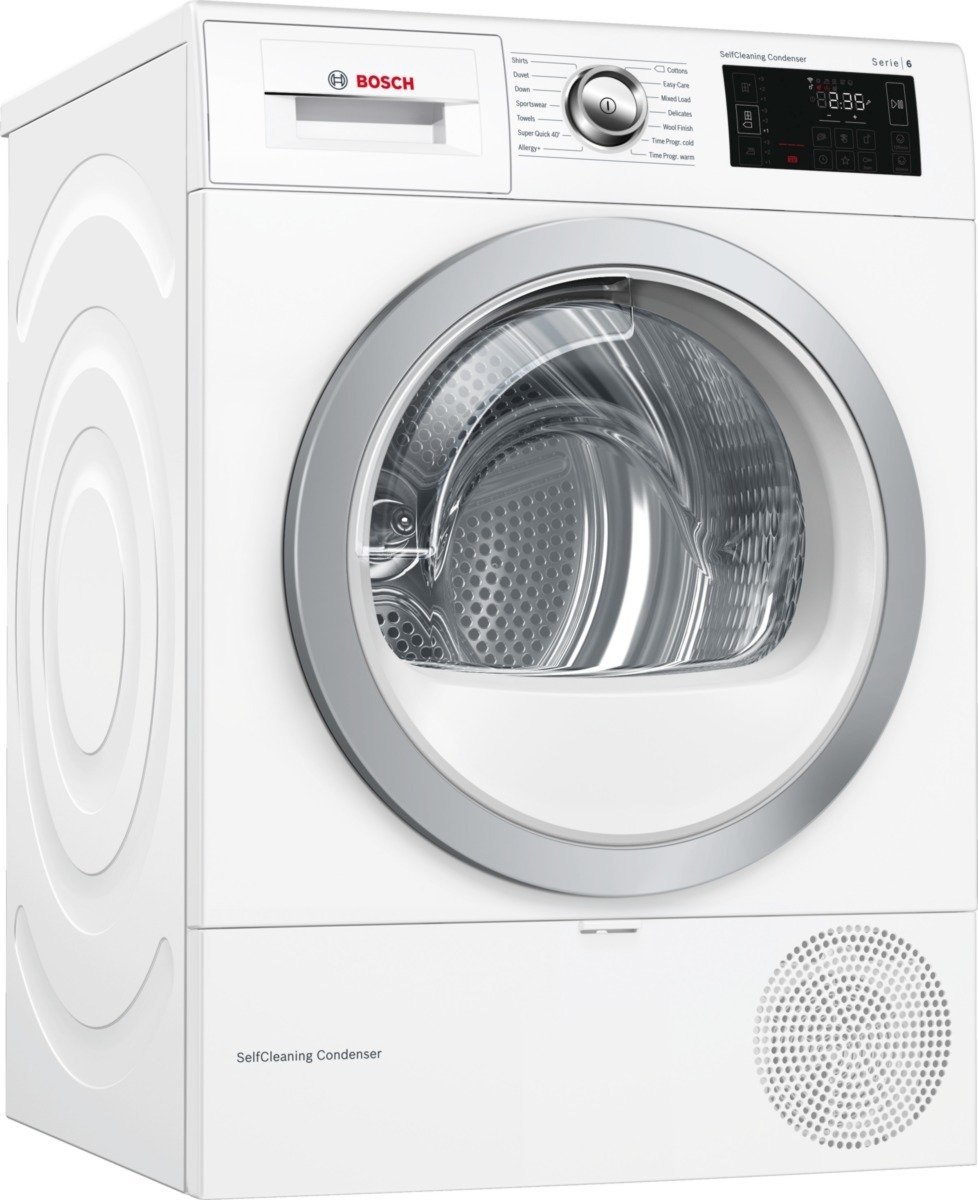 Bosch WTWH7660GB 9KG Heat Pump Tumble Dryer - White