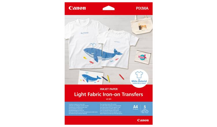 Canon LF-101 A4 Light Fabric Iron-On Transfers - 5 Sheets