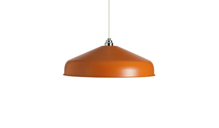 Argos Home Metal and Wood Effect Shade - Burnt Orange