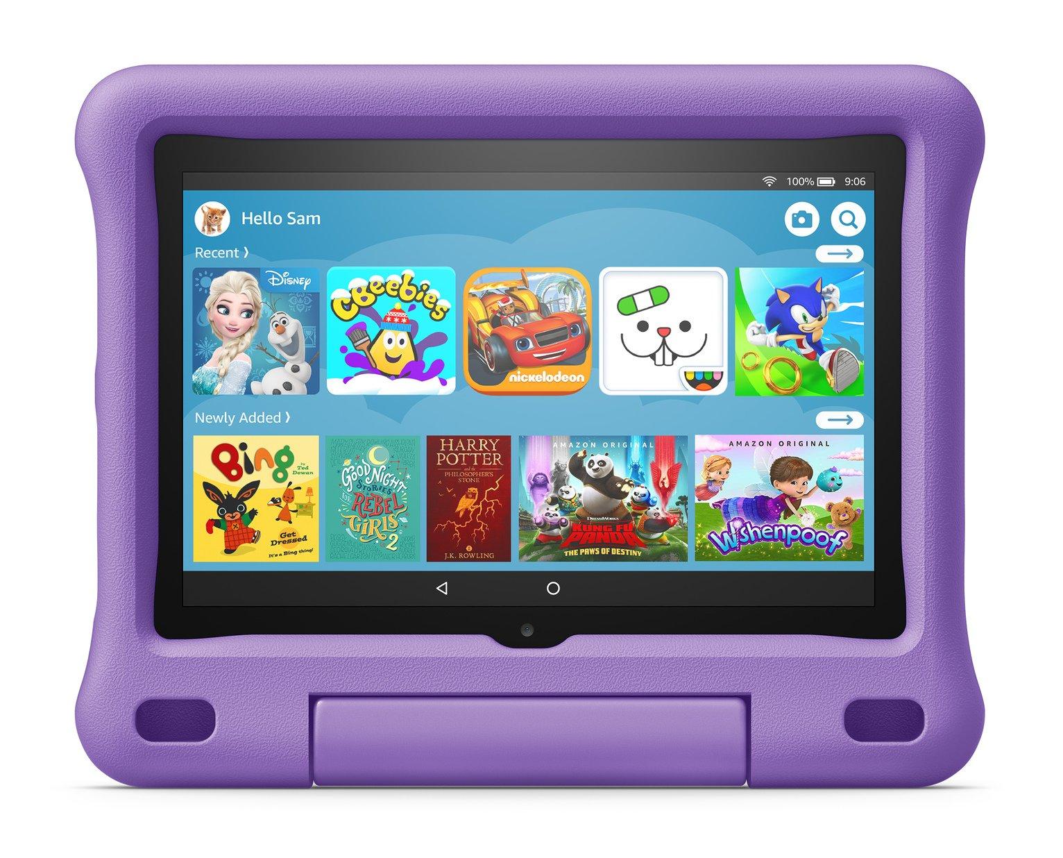 Amazon Fire HD 8 Kids 8in 32GB Tablet-Kid-Proof Case Purple
