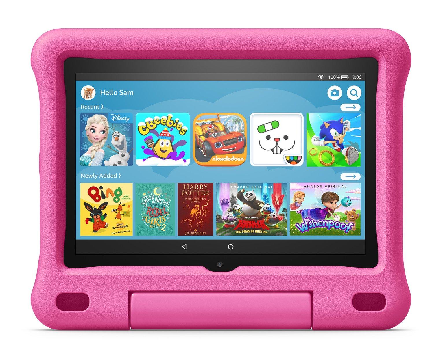 Amazon Fire HD 8 Kids 8in 32GB Tablet & Kid-Proof Case Pink