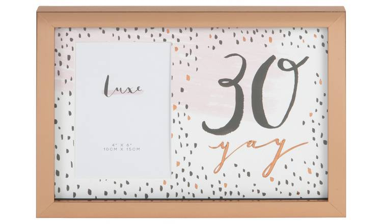 Hotchpotch Luxe 30th Rose Gold Birthday Frame